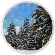 Painted Pines Round Beach Towel