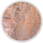 Painted Pink Concrete Round Beach Towel
