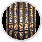 Painted Pipes Round Beach Towel