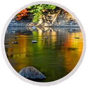 Painted River Round Beach Towel