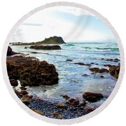 Painted Seascape Round Beach Towel
