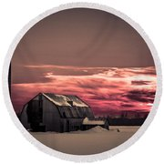 Painted Skies Round Beach Towel