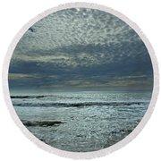 D3a6136-painted Sky Bolinas Ca  Round Beach Towel