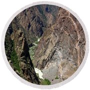 Painted Wall Black Canyon Of The Gunnison Round Beach Towel