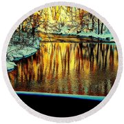 Painter's Box Round Beach Towel