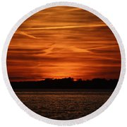 Painting In The Sky Round Beach Towel