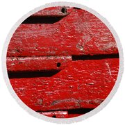 Painting It Red Round Beach Towel
