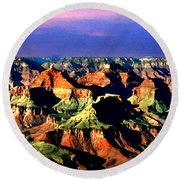 Painting The Grand Canyon National Park Round Beach Towel