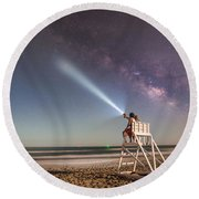 Painting With Light Round Beach Towel