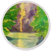 Paintings By Lyle Round Beach Towel