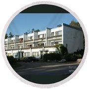 Paivola Building In Sunila Round Beach Towel