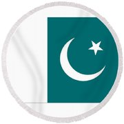 Pakistan Flag Round Beach Towel