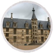 Palace Ducal Nevers Round Beach Towel