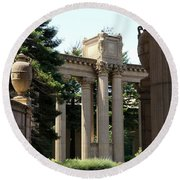 Palace Fine Arts Pillars And Urn Round Beach Towel