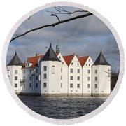 Palace Gluecksburg - Germany Round Beach Towel