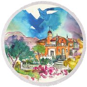 Palace In Sintra Round Beach Towel