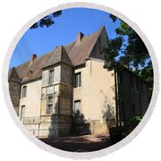 Palace Of Abbot Jacques D'amboise Round Beach Towel