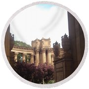 Palace Of Fine Arts 8 Round Beach Towel