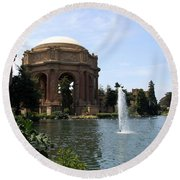 Palace Of Fine Arts And Lagoon Round Beach Towel