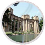 Palace Of Fine Arts Colonnades  Round Beach Towel
