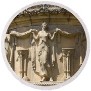 Palace Of Fine Arts Relief San Francisco Round Beach Towel