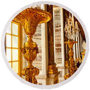 Palace Of Versailles Round Beach Towel