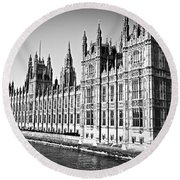 Palace Of Westminster Round Beach Towel