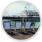 Palace Pier Brighton Round Beach Towel