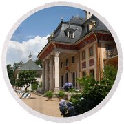 Palace Pillnitz - Germany Round Beach Towel