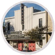 Palace Theater --- Georgetown Texas  Round Beach Towel