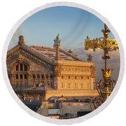Palais Garnier Round Beach Towel