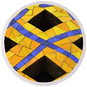 Palau Guell Chimney Round Beach Towel