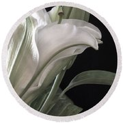 Pale Lily Round Beach Towel