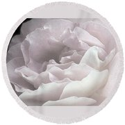 Pale Pink Rose Petals Round Beach Towel