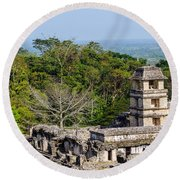 Palenque Palace Round Beach Towel