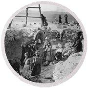 Palestine Archeology Round Beach Towel