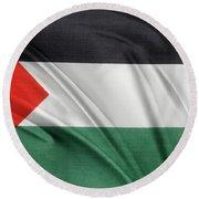 Palestine Flag Round Beach Towel