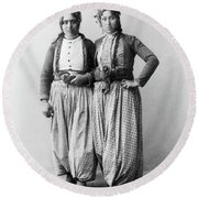 Palestine Gypsies, 1893 Round Beach Towel