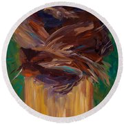 Palm Bark Round Beach Towel