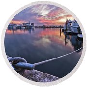 Palm Beach Harbor Round Beach Towel
