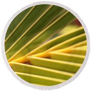 Palm Fronds Round Beach Towel