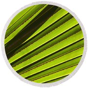 Palm Lines Round Beach Towel