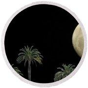 Palm Moon Round Beach Towel