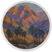 Palm Oasis At La Quinta Cove Round Beach Towel