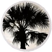 Palm Sihlouette Round Beach Towel