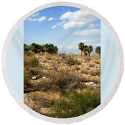 Palm Springs Indian Canyons View  Round Beach Towel