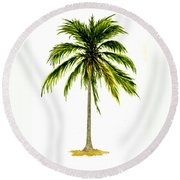 Palm Tree Number 2 Round Beach Towel