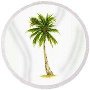 Palm Tree Number 4 Round Beach Towel