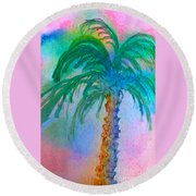 Palm Tree Study Round Beach Towel