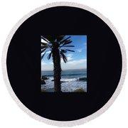 Palm Waves Round Beach Towel